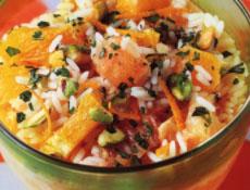 salade de riz aux agrumes