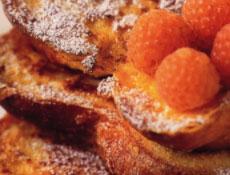 pain perdu aux framboises blanches
